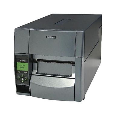 Citizen CL-S700 Direct/Thermal Transfer Barcode Label Printer With Rotary, Cutter, 300 dpi, 10 ips