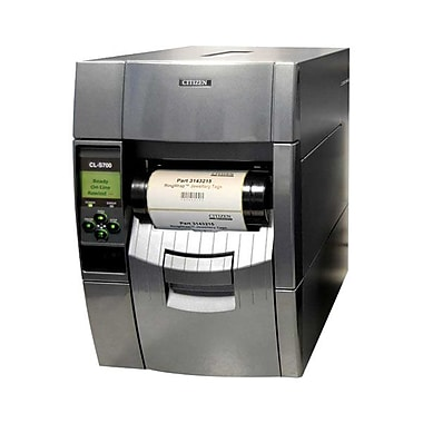 Citizen CL-S700 Direct/Thermal Transfer Barcode Label Printer With Ethernet Rewinder, 300 dpi, 10 ips