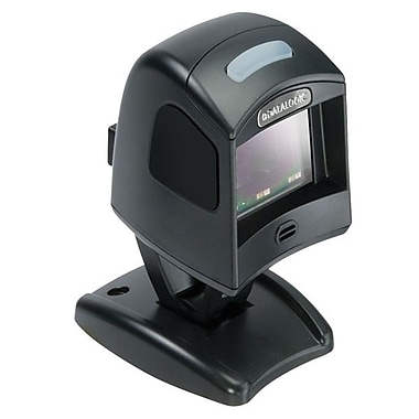 Datalogic™ Magellan 1100i RS-232 2D Barcode Scanner with Stand, 5 mil Omnidirectional, Black