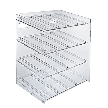 Azar Displays 4-tiered 16 Compartment Pegboard Cosmetic Counter Display