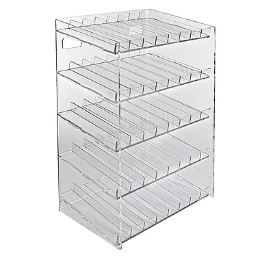 Azar Displays 5-tiered 40 Compartment Pegboard or Slatwall Cosmetic Counter Display