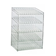 Azar Clear 5-Tiered 60 Compartment Cosmetic Counter Display 18.5 x 12-inch