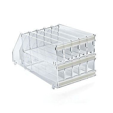 Azar Displays 2-Tiered Modular Pencil Tray Insert measures 4-7/8