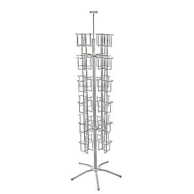 Azar Displays 48-Pocket Wire Carousel Literature Metal Floor Display