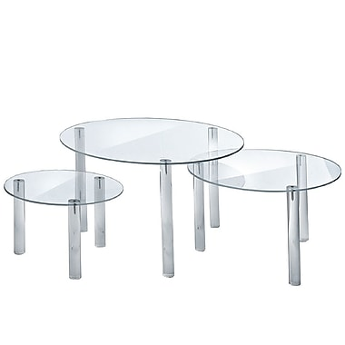 Azar Displays 3-piece Tall Round Riser Set