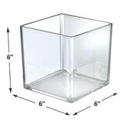 Azar Displays 6-inch Cube Bin 4/Pack