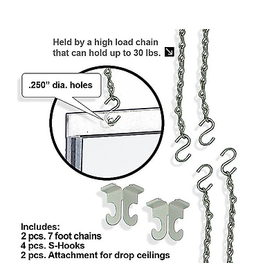 Azar Displays 8-Piece Hanging Hardware Kit