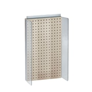 "Azar Displays 13-1/2"" W x 22"" H Pegboard Powerwing in Solid Almond"