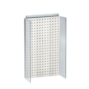 "Azar Displays 13-1/2"" W x 22"" H Pegboard Powerwing in Solid White"