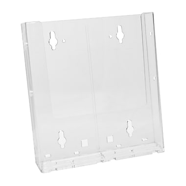 Acrylic Brochure Holders, Full Page Wall Mount Slatwall/ Grid