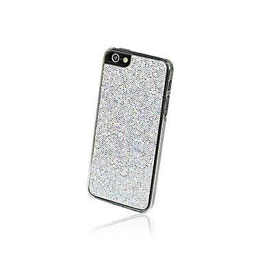 Gel Grip – Étui pour iPhone 5 de la série Glitter, argenté, IP5GSV