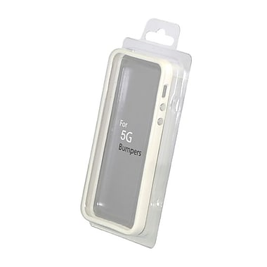 Gel Grip iPhone 5 Bumper Case, White, BIP5W