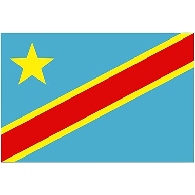 International Flag, Congo-Kinshasa, 36