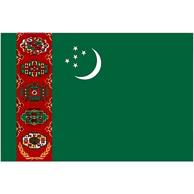 International Flag, Turkmenistan, 36