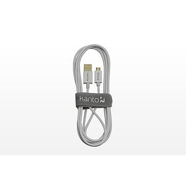 Kanto® USB 2.0A Plug to USB 2.0 Micro B Plug, White, 6'