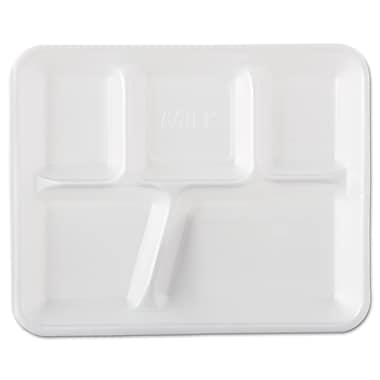 Genpak® 10500 Serving Tray, 1 1/4in.(H) x 8 2/5in.(W) x 10 2/5in.(Dia), White