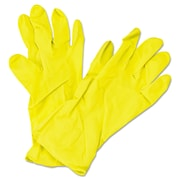 Impact® Flock Lined Latex Gloves, Yellow, Medium