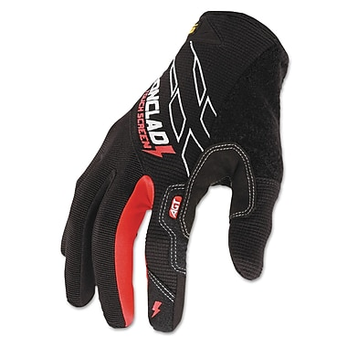 Ironclad Synthetic Leather Touch Screen Work Gloves, Black/Red, Medium
