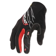 Ironclad Synthetic Leather Touch Screen Work Gloves, Black/Red, Large