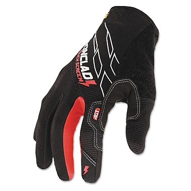 Ironclad Synthetic Leather Touch Screen Black/Red Work Gloves
