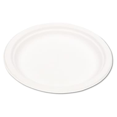 Eco-Product® P013 Dinnerware Plate, 9in.(Dia), Natural White, 500/Carton