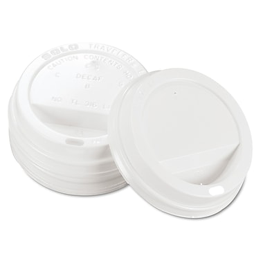 Solo® Traveler Drink-Thru Hot Cups Lid, White, 1000/Pack