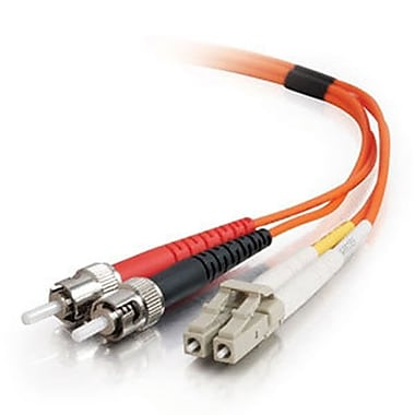 C2G® LC-ST 50/125 Multimode Fiber Optic CBL, 10m, Orange