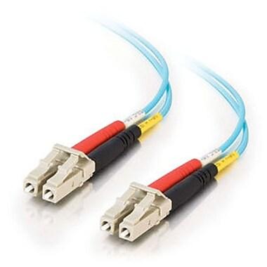 C2G® Fiber Optic Cable, 8m, Aqua