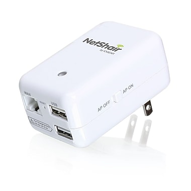 IOGEAR® NetShair Link Portable Wi-Fi Router And USB Media Hub