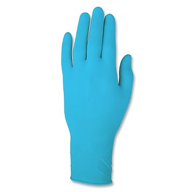 Ansell Rolled Cuff Powder-Free Vinyl Gloves, Blue, Medium