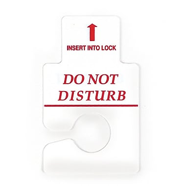 Lancaster Custom Graphics Keyless Polystyrene Door Tag, White