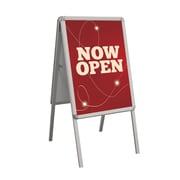 "Metrix Snap AFRM-45-0506-01 33.5"" x 23.5"" Vinyl/Aluminum ""Now Open"" Open Signs"