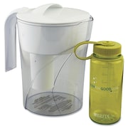 Brita® 35391 48 oz. Classic Pour-Through Pitcher W/Bonus 16 oz. Water Bottle, Clear/White