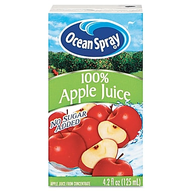 Ocean Spray® 100% Apple Aseptic Juice Boxes, 4.2 oz., 40/Carton
