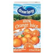 Ocean Spray® 100% Orange Aseptic Juice Boxes, 4.2 oz., 40/Carton
