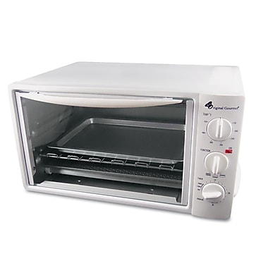 Coffee Pro 4 Slice Multi-Function Toaster Oven With Multi-Use Pan, White