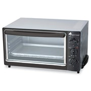 Coffee Pro 4 Slice Multi-Function Toaster Oven With Multi-Use Pan, Black/Stainless
