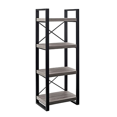 Walker 58in. Urban Wood Media Tower, Gray