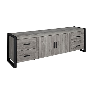 Walker 70in. Urban Blend TV Stand, Ash Gray/Black