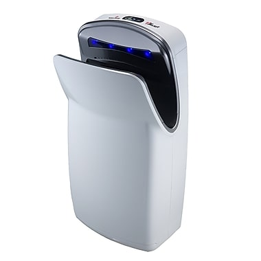 World Dryer® Vmax 110 - 120 V High-Speed Vertical Automatic Hand Dryer, White