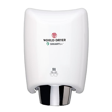 World Dryer® SMARTdri™ 208 - 240 V High-Efficiency Intelligent Automatic Hand Dryer, White