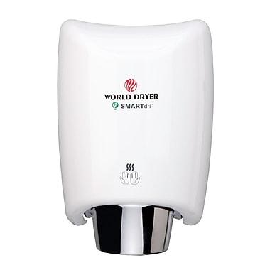 World Dryer® SMARTdri™ 110 - 120 V High-Efficiency Intelligent Hand Dryer, White