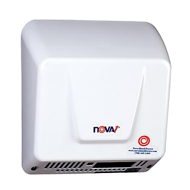 World Dryer® Nova® 115 - 240 V Universal Voltage Economical Automatic Hand Dryer, White