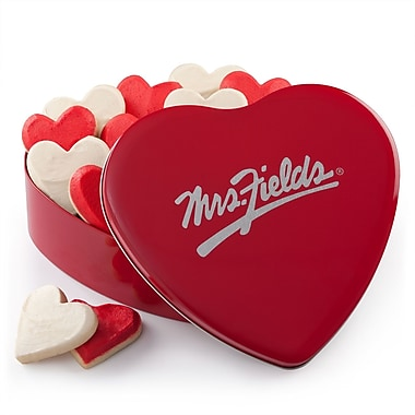 MRS. FIELDS® 12 HAND FROSTED COOKIE HEART TIN