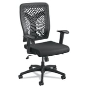 Safco® Voice™ Series Task Chair, Polyester, T-Pad, Black (5085BL)