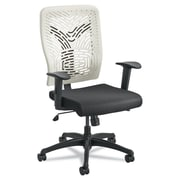 Safco Voice Fabric Computer and Desk Office Chair, Adjustable Arms, Black/Latte (5085LT)