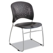 Safco® Reve™ Guest Chair with Sled Base, Steel, Multi-Use Black/Silver, 2/Carton (6804BL)