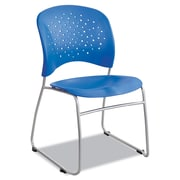 Safco® Reve™ Guest Chair with Sled Base, Steel, Multi-Use Lapis/Silver, 2/Carton (6804LA)