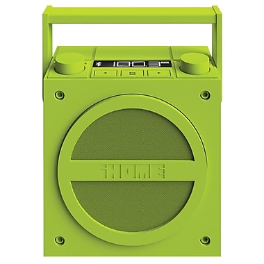 iHome® iBT4 Bluetooth Wireless Rechargeable Boombox With FM Radio, Green