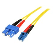Startech.com® 22.97' LC/SC OS1 Singlemode Duplex Fiber Optic Patch Cable, Yellow